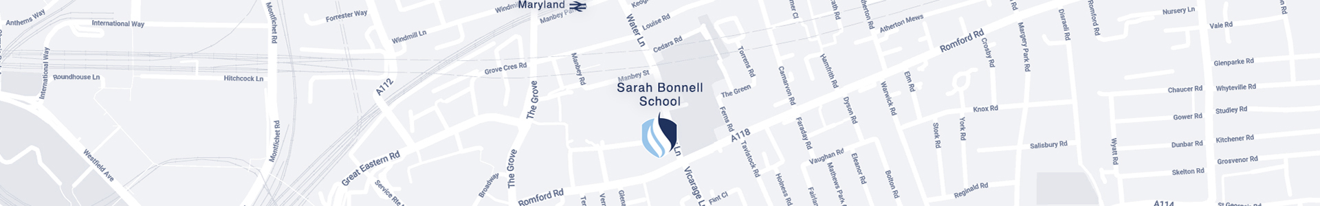 Sarah Bonnell School on Map
